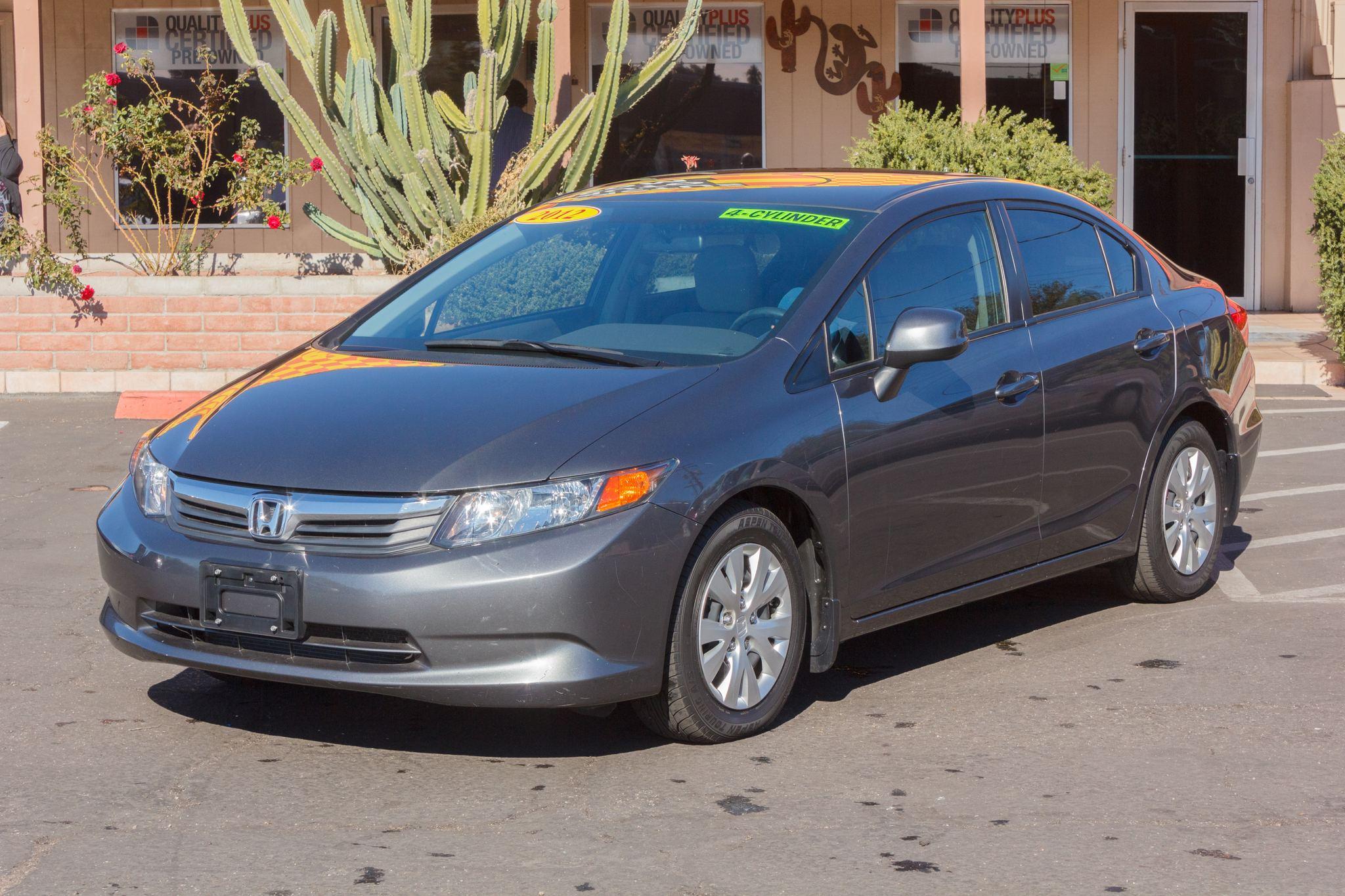 Photo of 2012 Honda Civic Sedan 4d Sedan LX Auto Polished Metal Metallic