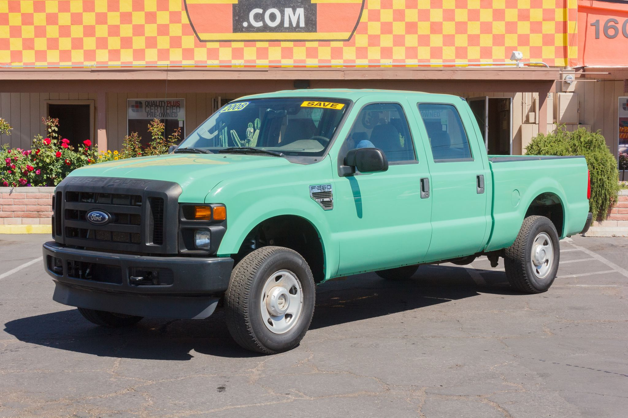 Photo of 2008 Ford F250 4WD Crew Cab XL Forest Green Clearcoat Metallic