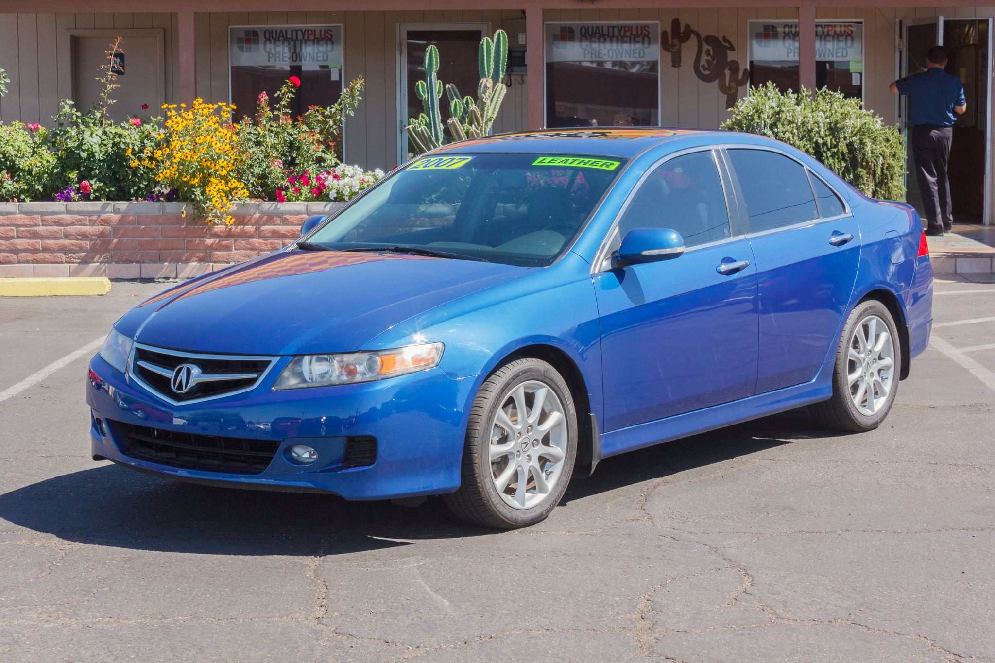 Photo of 2007 Acura TSX 4d Sedan Auto Glacier Blue Metallic