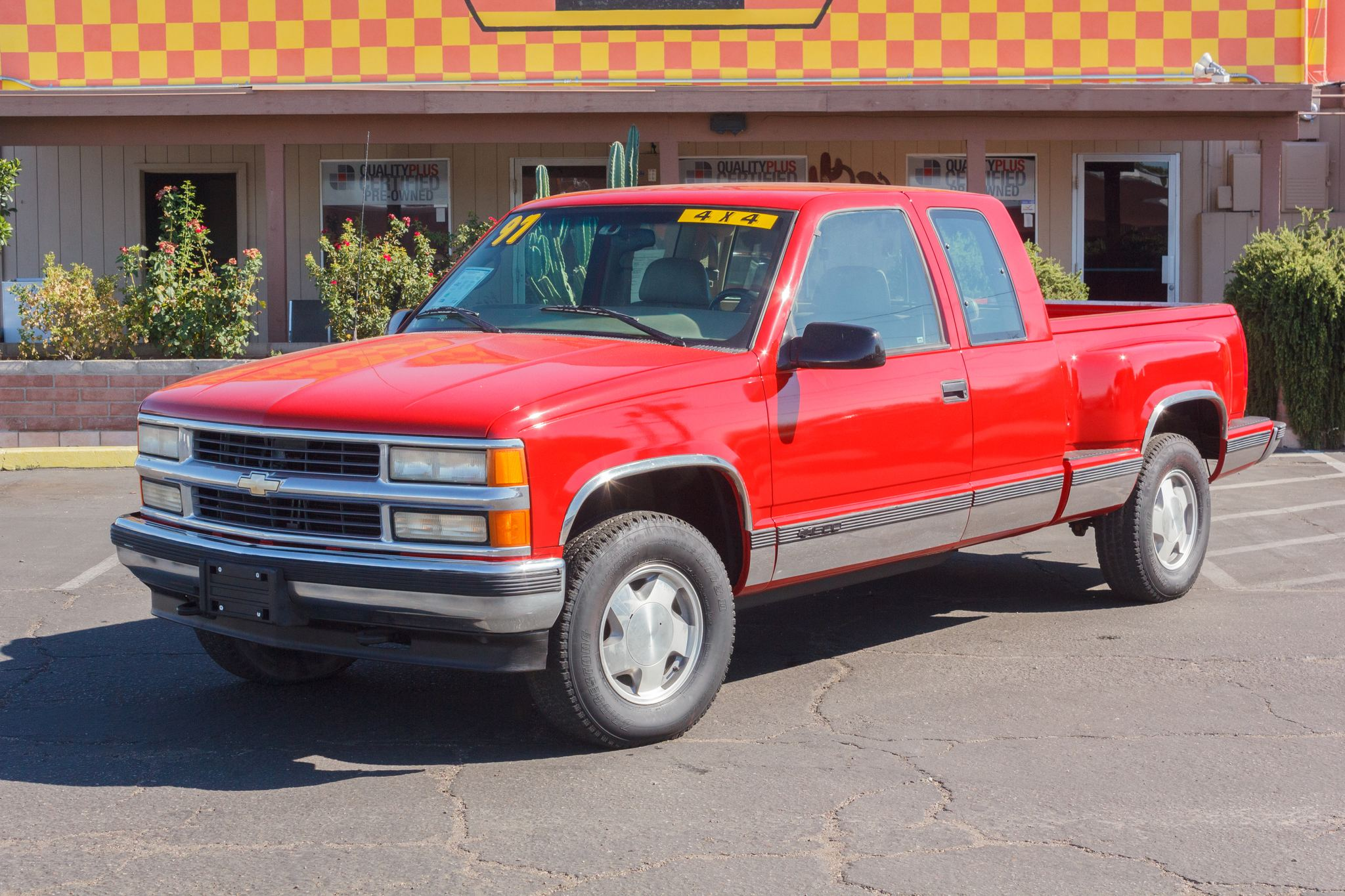 Photo of 1997 Chevrolet K1500 Pickup 4WD Ext Cab Silverado Sportside Victory Red