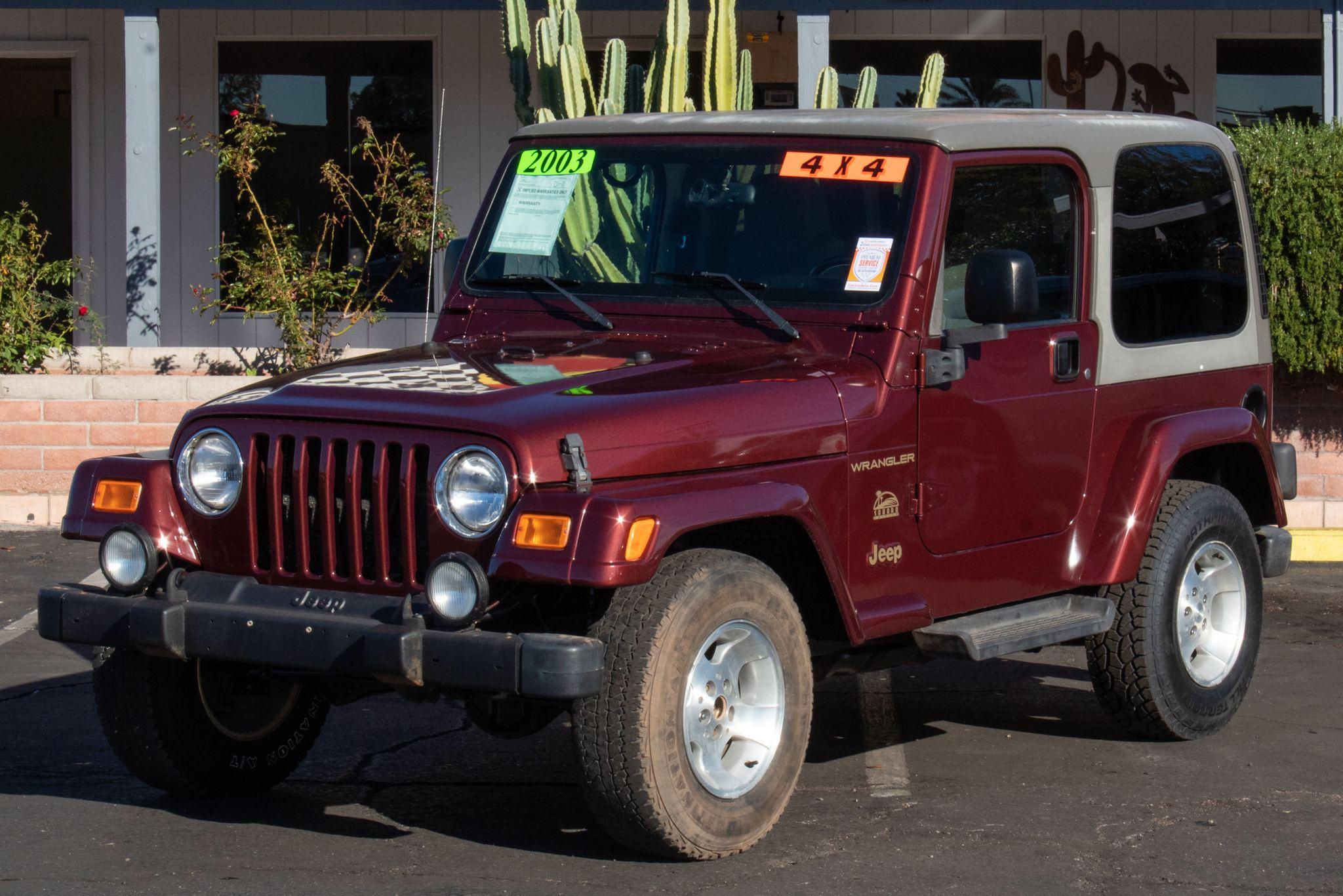 Photo of 2003 Jeep Wrangler 2d Convertible Sahara